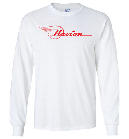 Navion Logo T-Shirt (Long Sleeve) - Red Logo