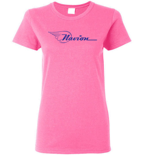 Navion Logo T-Shirt (Short Sleeve) - Blue Logo - Ladies