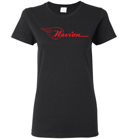 Navion Logo T-Shirt (Short Sleeve) - Red Logo - Ladies