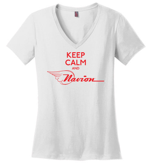 Navion Keep Calm T-Shirt (Short Sleeve) - Ladies - V - Neck