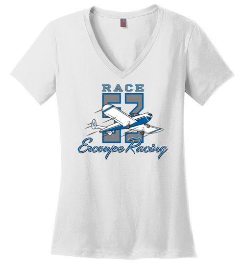 Race 53 T-Shirt (Short Sleeve) Ladies V-Neck