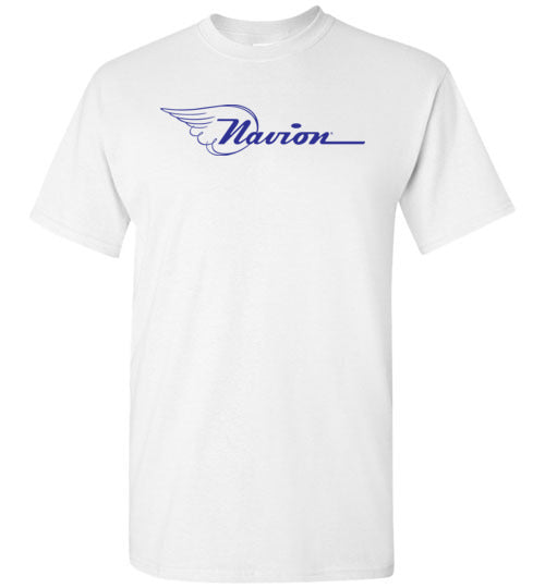 Navion Logo T-Shirt (Short Sleeve) - Blue Logo - Tall