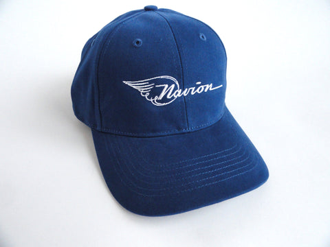 Navion Hat - (Fabric Back) Embroidered - Blue
