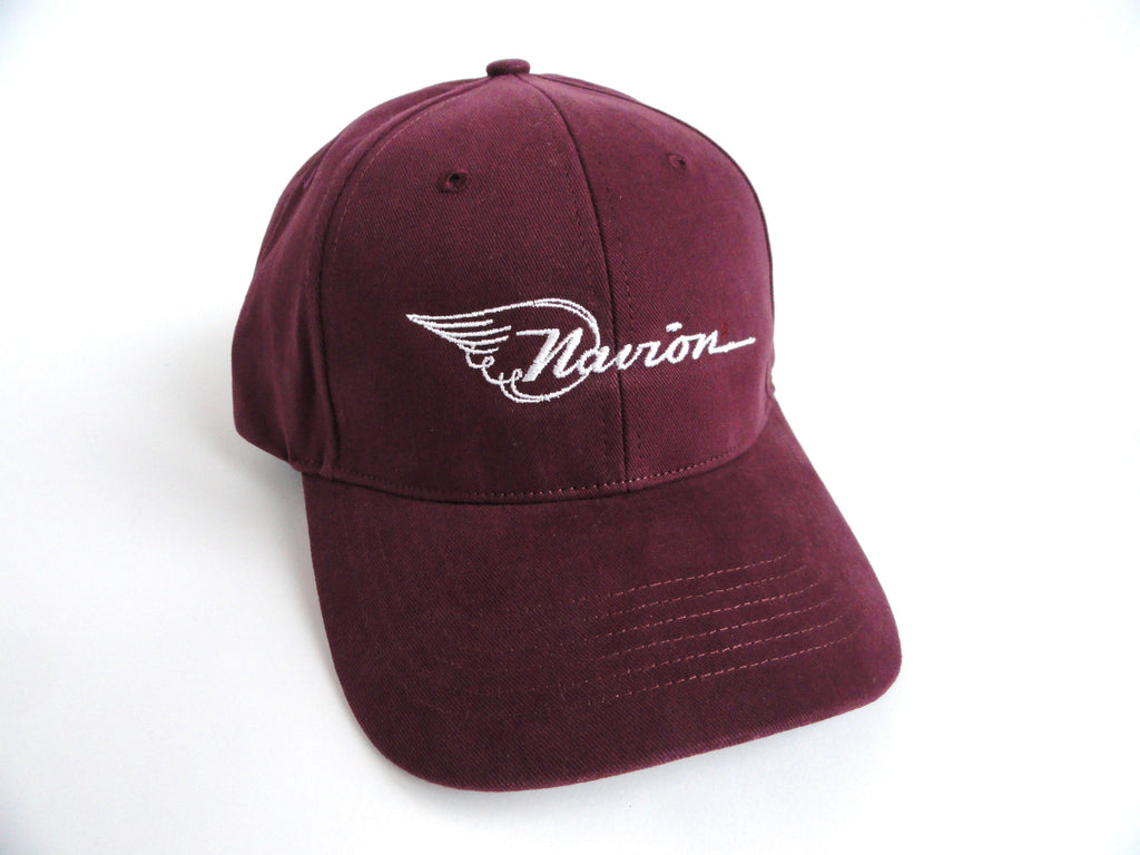 Navion Hat - (Fabric Back) Embroidered - Maroon