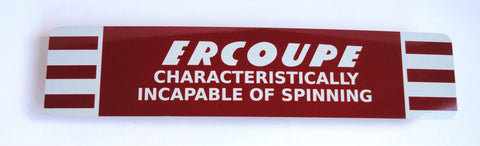 Ercoupe Metal Sign - Incapable of Spinning