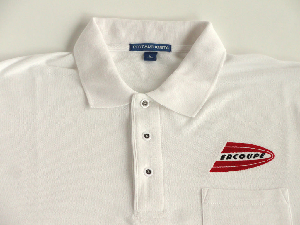 Ercoupe Polo Shirt w/Pocket (Short Sleeve) - Embroidered Emblem - Heavier Weight