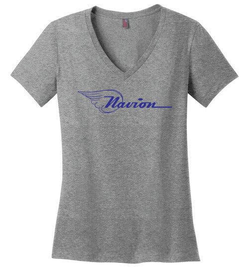 Navion Logo T-Shirt (Short Sleeve) - Blue Logo - Ladies V-Neck