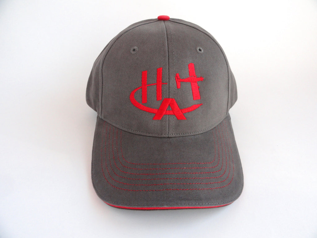 Hummel Aviation Hat - (Fabric Back) Embroidered - Gray
