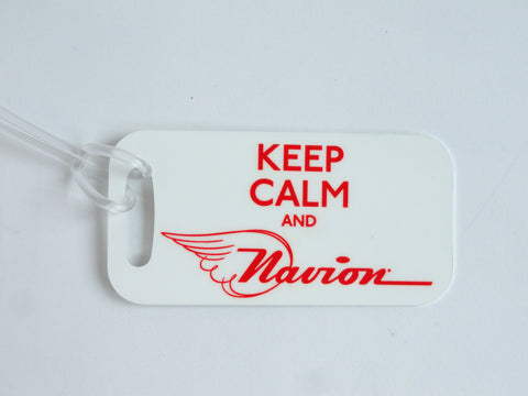 Navion Decorative Bag Tag - Keep Calm