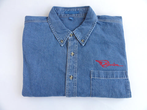 Navion Denim Shirt (Long Sleeve) - Embroidered Emblem