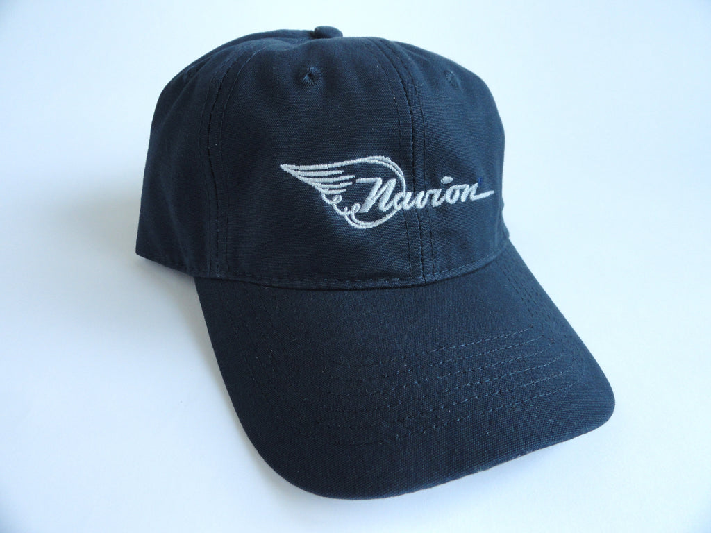 Navion Hat - (Fabric Back) Embroidered - Dark Blue
