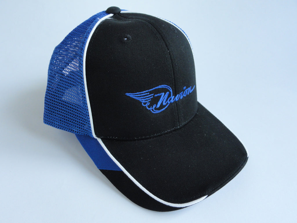 Navion Hat - (Mesh Back) Embroidered - Blue and Black