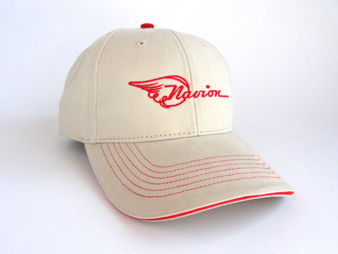 Navion Hat - (Fabric Back) Embroidered - Beige