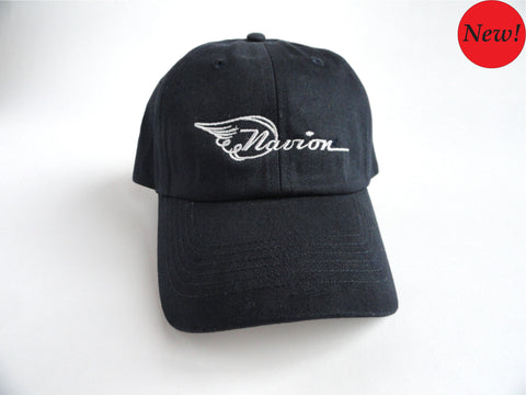 Navion Hat - (Fabric Back) Embroidered - Navy Blue