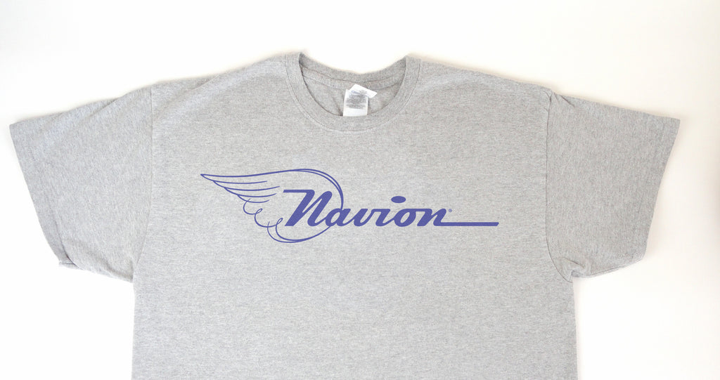 Navion Logo T-Shirt (Short Sleeve) - Blue Logo