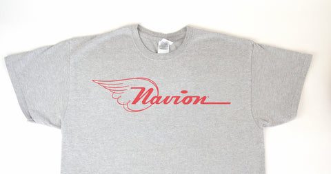 Navion Logo T-Shirt (Short Sleeve) - Red Logo