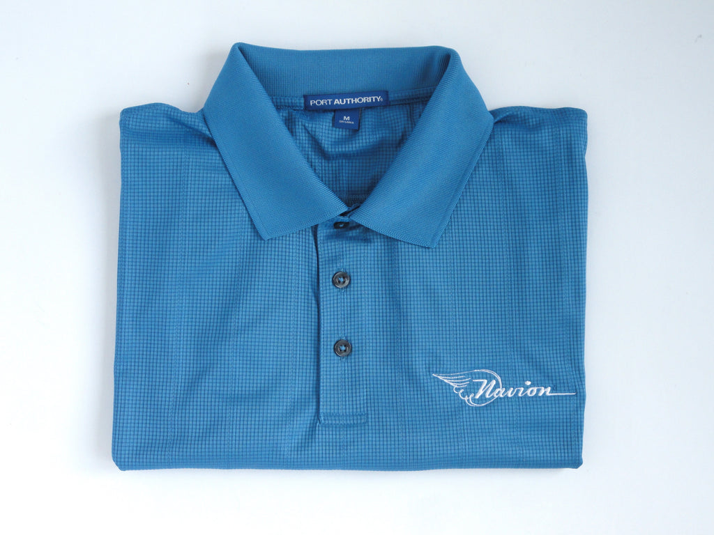 Navion Polo Shirt - Jacquard- (Short Sleeve) - Embroidered Emblem