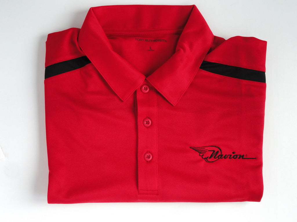 Navion Polo Shirt - Striped - (Short Sleeve) - Embroidered Emblem