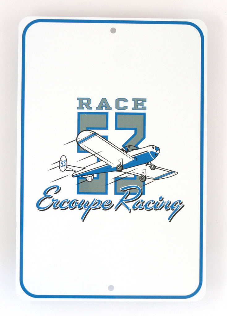 Race 53 Metal Sign (White)