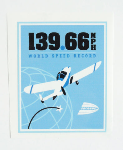 Race 53 Ercoupe World Speed Record Decal