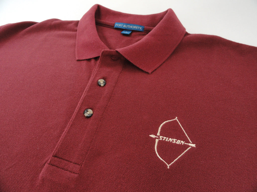 Stinson 108 Polo Shirt Short Sleeve Embroidered Emblem