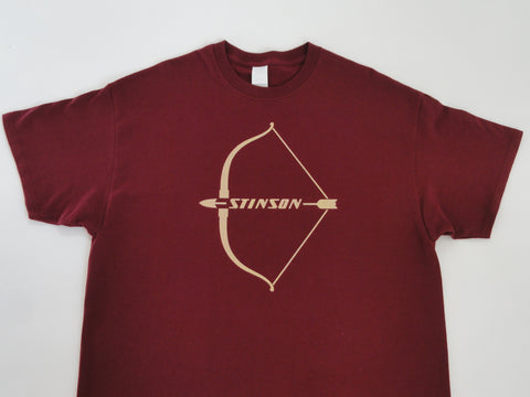 Stinson 108 T-Shirt (Short Sleeve) - Large Emblem (Cream)