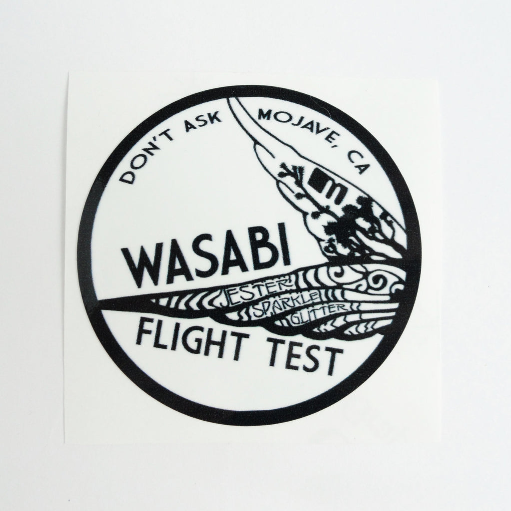 Wasabi Flight Test Decal