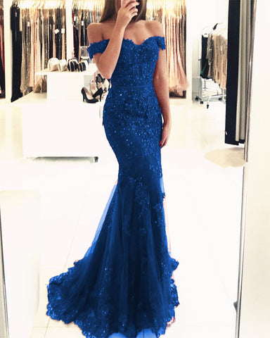 Image of Dark Blue Prom Dresses 2019