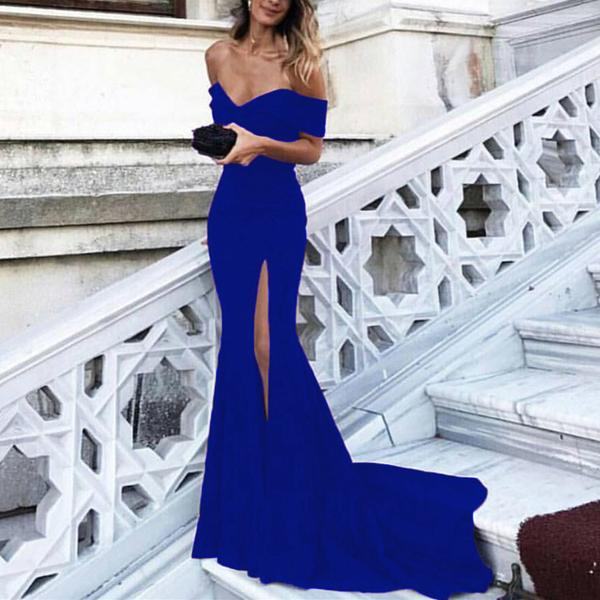 Royal Blue Mermaid Evening Dresses