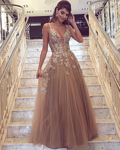 Image of Champagne-Prom-Dress