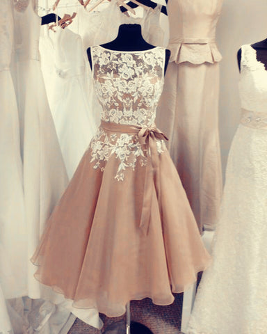 Image of Champagne-Bridesmaid-Dresses