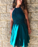 Teal-Green-Homecoming-Dresses-Short-Chiffon-Prom-Cocktail-Dress