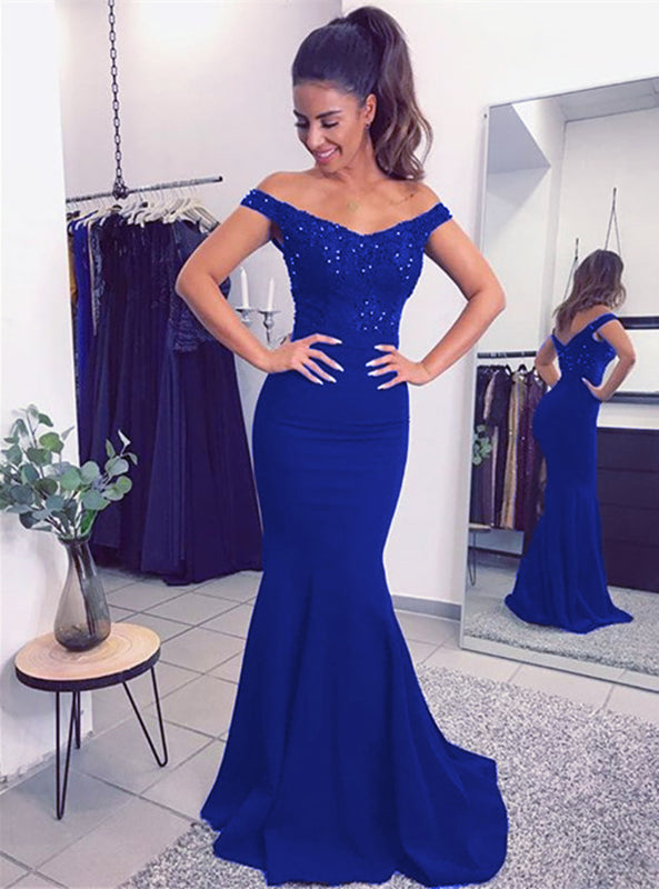 Royal Blue Bridesmaid Dress