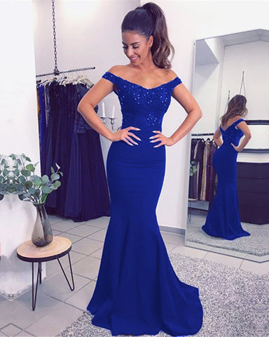 Image of royal blue prom dresses long