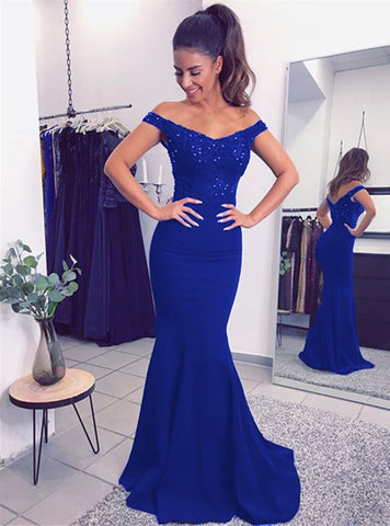 Image of Royal Blue Bridesmaid Dress
