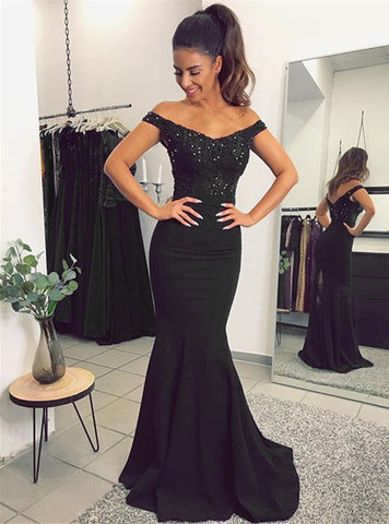 Image of alinanova mermaid evening dresses 7013 black
