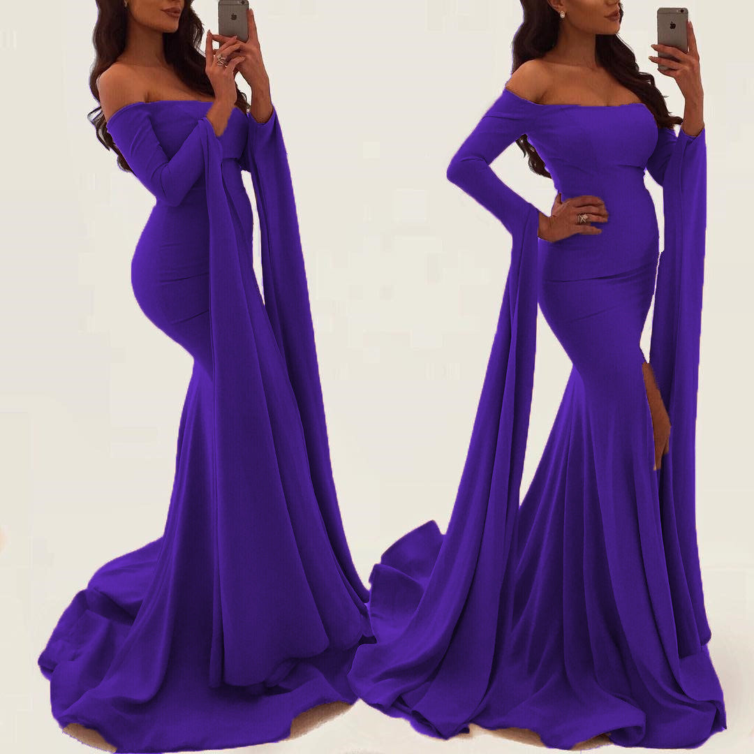 Purple 2018 Prom Dresses with Straps