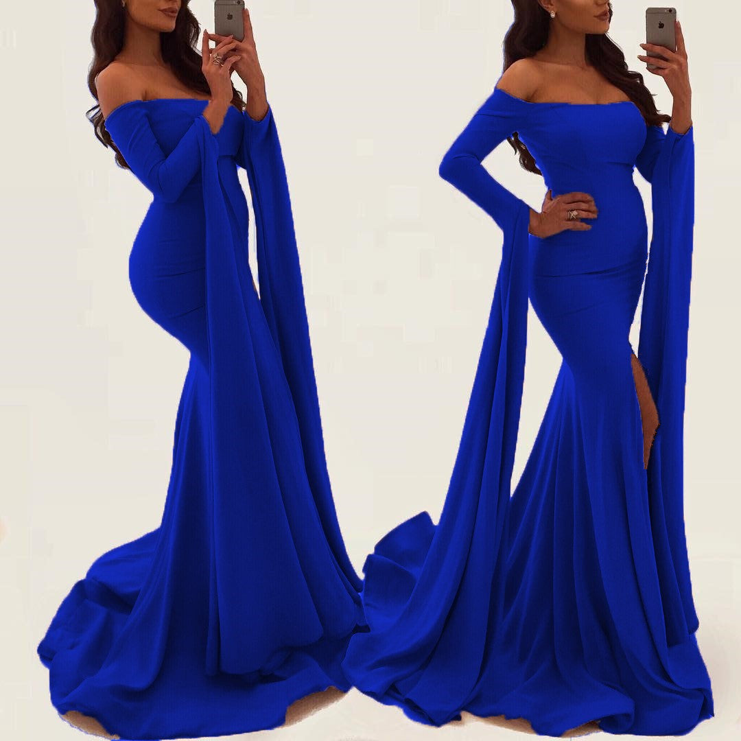 Electric Blue Strapless Prom Dresses