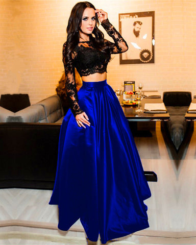 Royal Blue Two Piece Prom Dresses For Sale
