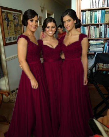 Bridesmaid dresses Burgundy Long