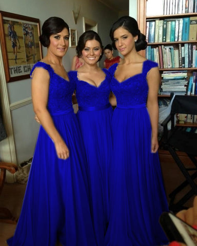 Royal Blue Bridesmaid Gown