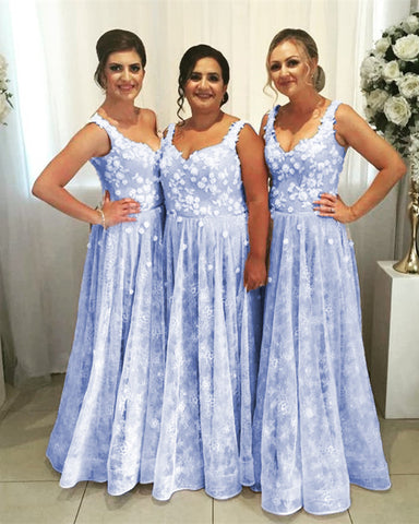 Image of Lavender Bridesmaid Lace Dresses