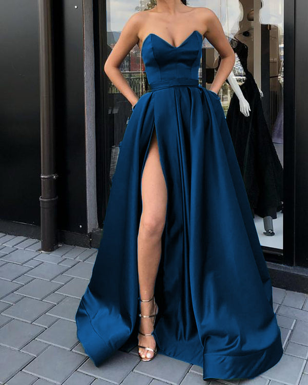 Midnight Blue Prom Dresses 2019