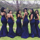 Midnight-Blue-Bridesmaid-Dresses-For-Maid-Of-Honor