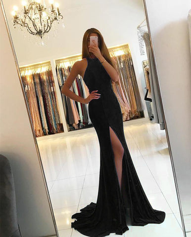 Image of 7009-Mermaid-Dresses-Black