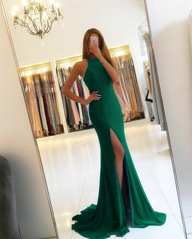 Image of 7009-Mermaid-Dresses-Green