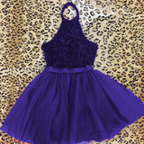 fully beaded hater top organza ruffles homecoming dresses