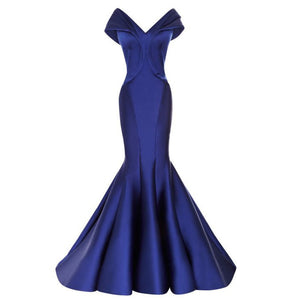 off the shoulder v neck long taffeta mermaid evening dresses long prom gowns 2017
