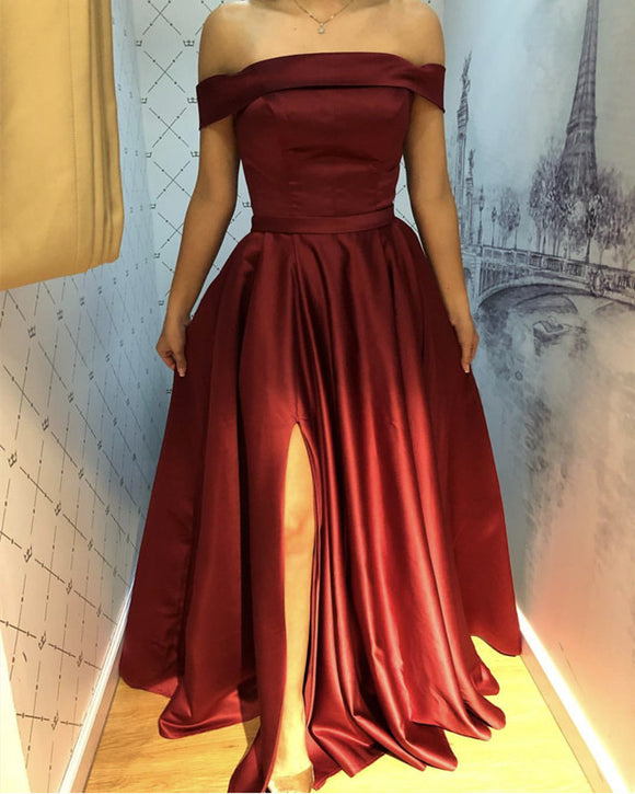 Long Prom Dresses Burgundy