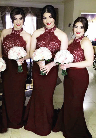 Image of Halter-Dresses-Bridesmaids